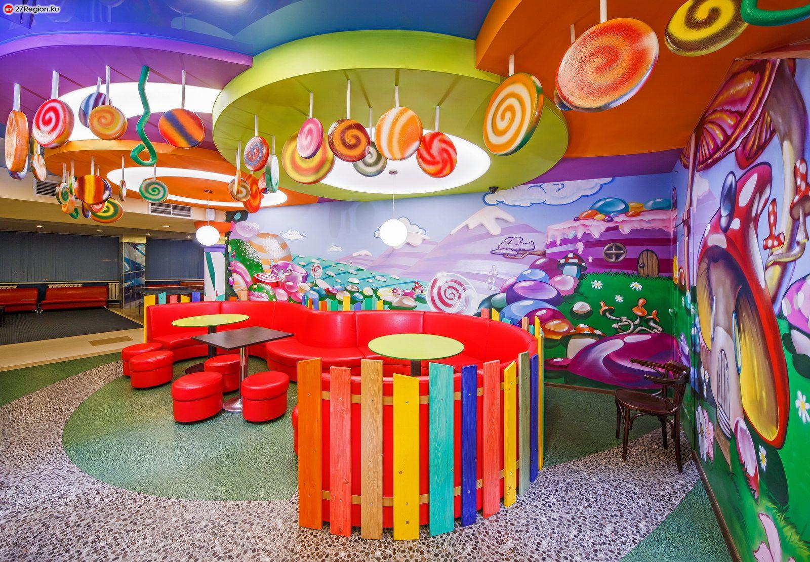 Интерьер детского кафе фото