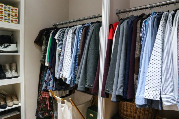 Одежда в гардеробной
