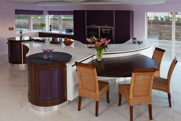 дизайн кухни частного дома фото