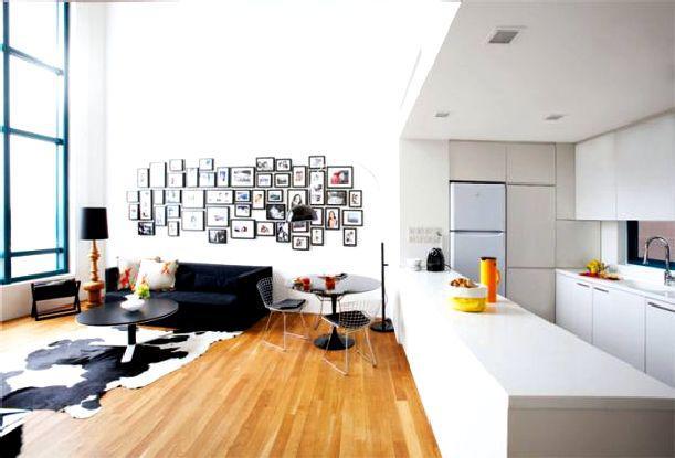 дизайн проект кухни гостинной