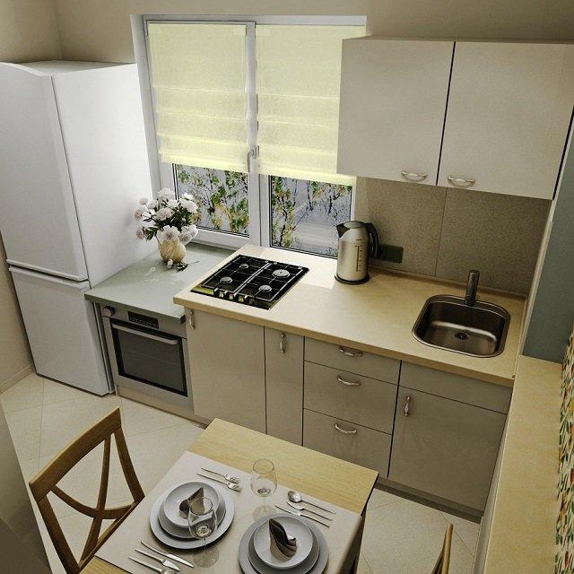 интерьер кухни 6м2 неплохой вариант