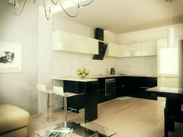 полезные идеи по дизайну кухни совмещенной с гостиной