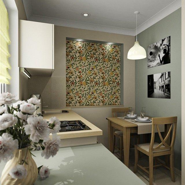 создать интерьер кухни 6м2 легко