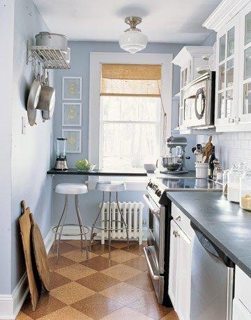 дизайн кухни совмещенной с гостиной