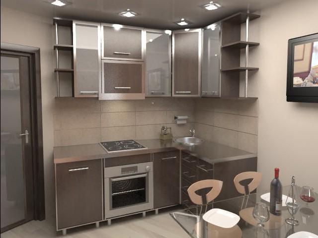 дизайнерский вариант кухни 8м