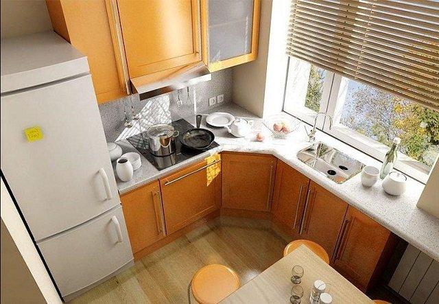дизайн кухни в хрущевке отличные решения