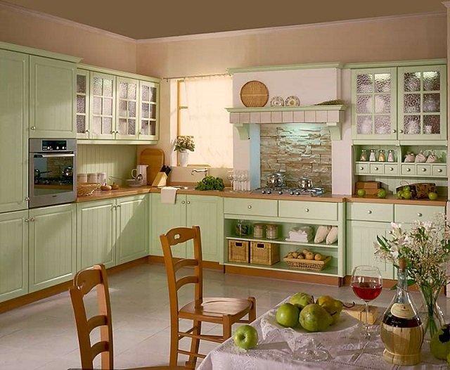фисташковый цвет в интерьере кухни вашего дома