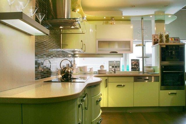 выбираем фисташковый свет в кухне