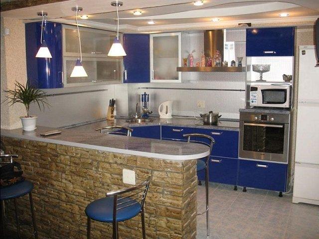дизайн кухни с барной стойкой в вашем доме