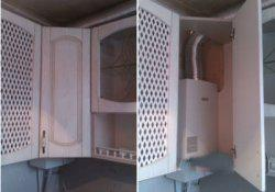 газовая колонка интерьер кухни
