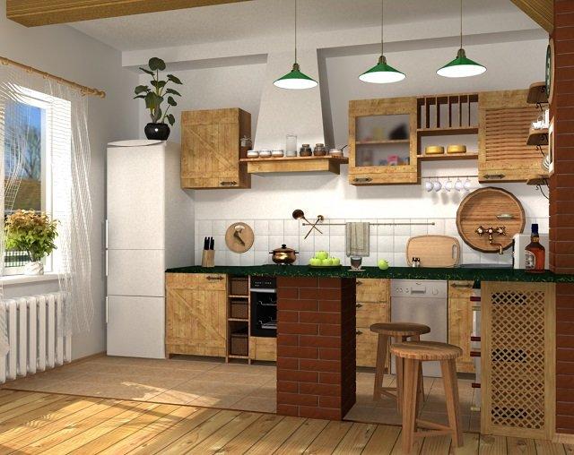 мебель для кухни в стиле кантри