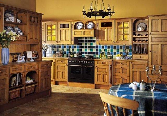 английский деревенский стиль в дизайне кухни