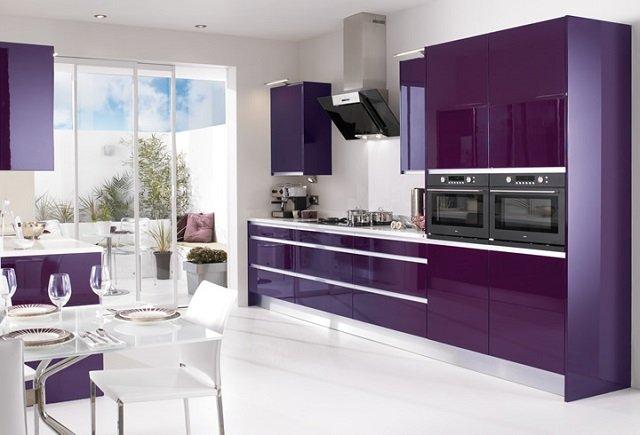 кухня фиолетового цвета для смелых людей