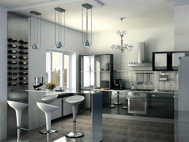 светло-серая кухня для современных людей