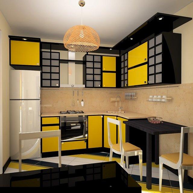 дизайн небольшой кухни в японском стиле