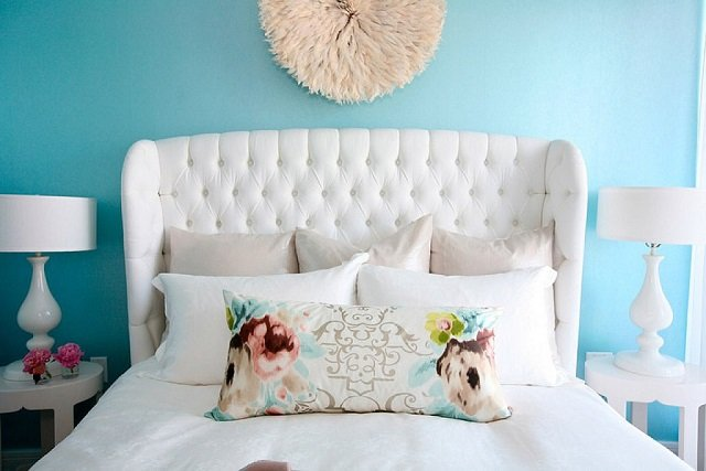 бирюзовый стиль спальни
