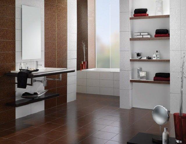 креативный дизайн укладки плитки в ванной