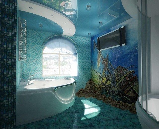 декоративный дизайн ванной комнаты