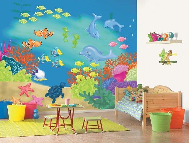 детская комната с фотообоями