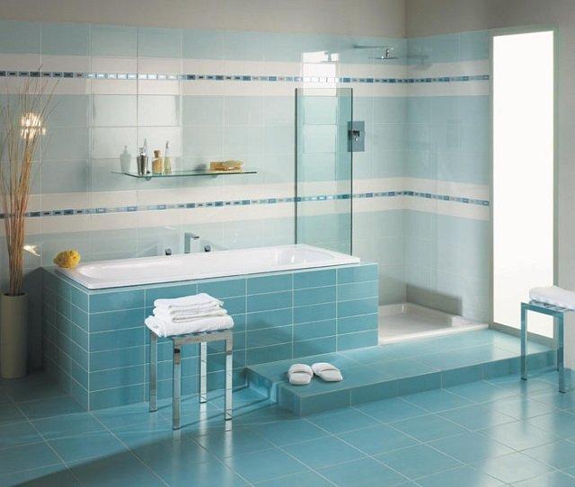 дизайн кафельной плитки в ванной комнате