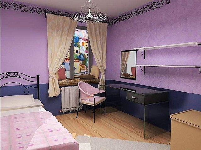 дизайн комнаты сиреневого цвета
