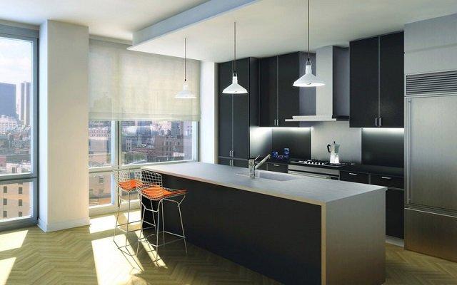 дизайн кухни с островом 21 века