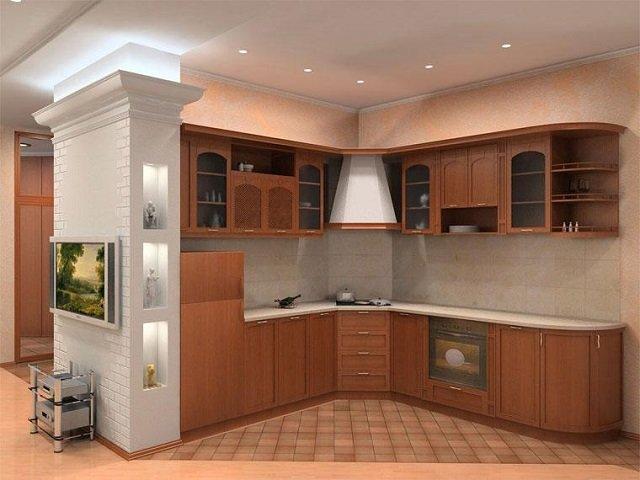 дизайн подвесных потолков на кухне