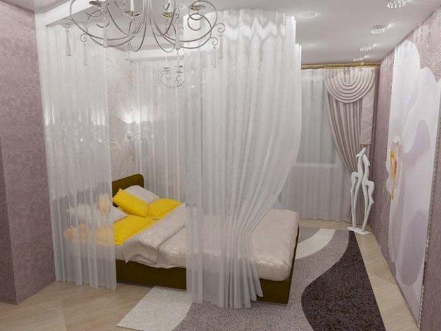 дизайн спальни с балдахином - роскошное решение
