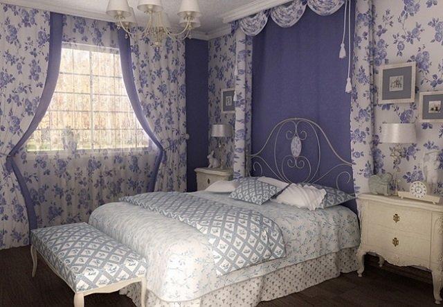 дизайн спальни в французком шике