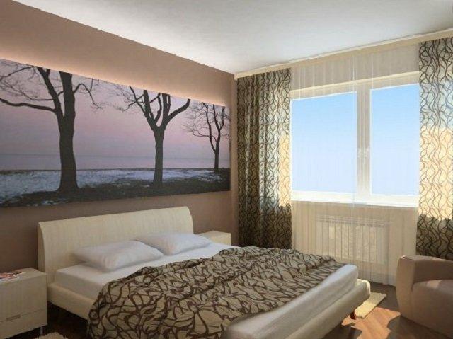 дизайн спальной комнаты в хрущевке