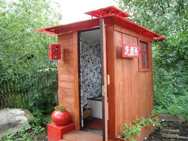 дизайн туалета на даче своими руками