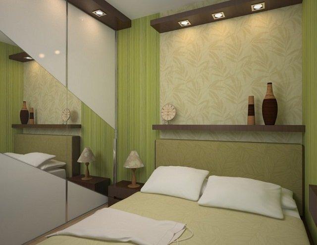 дизайн в хрущевке спальной комнаты