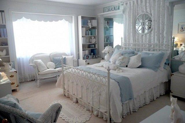 французский интерьер спальни в стиле прованс