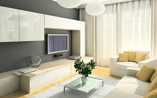 гостиная в светлых тонах как отображение благополучия
