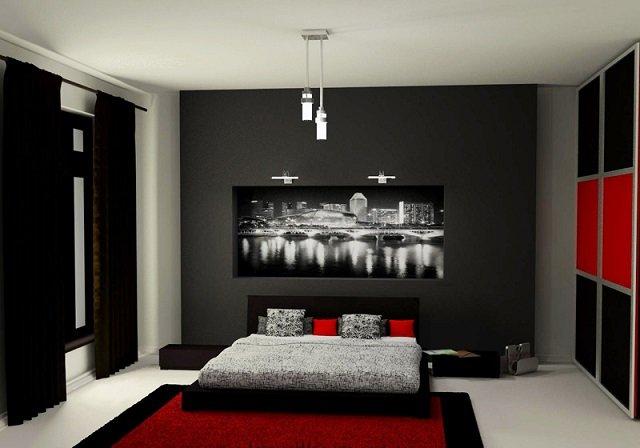 характерная мужская спальня