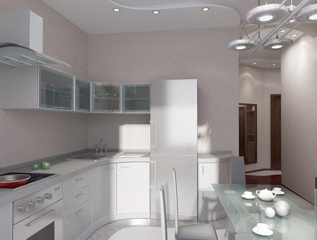 холодильник представлен в интерьере кухни