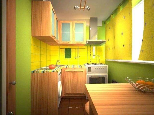 хороший интерьер кухни в маленькой квартире
