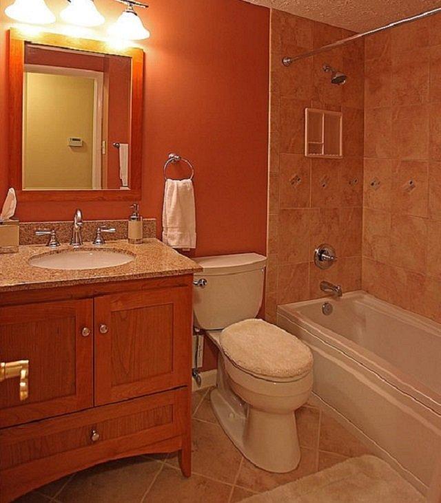 хороший интерьер ванной в панельном доме