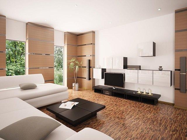 интерьер гостиной в стиле модерн и его основные черты