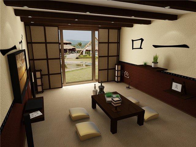 изящество и очарование - японский стиль в гостиной