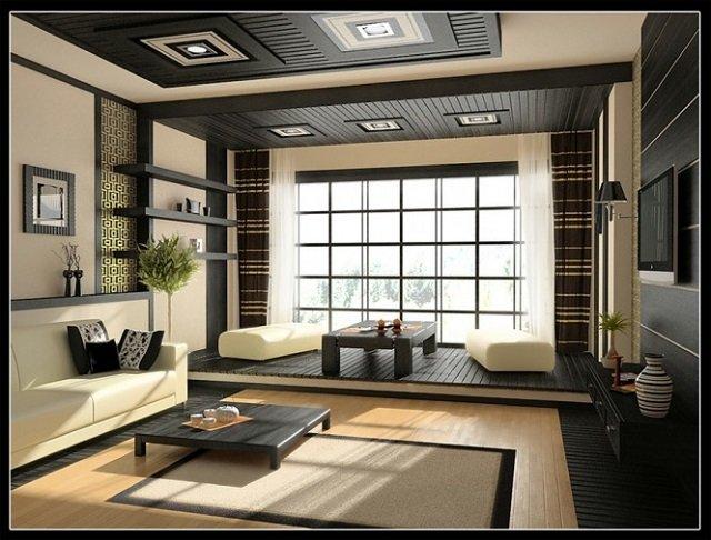изящество японского стиля в интерьере гостиной