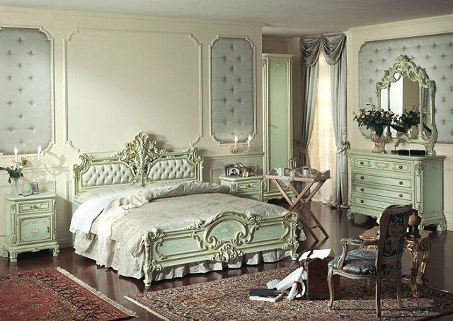 изумительный дизайн спальни в стиле барокко