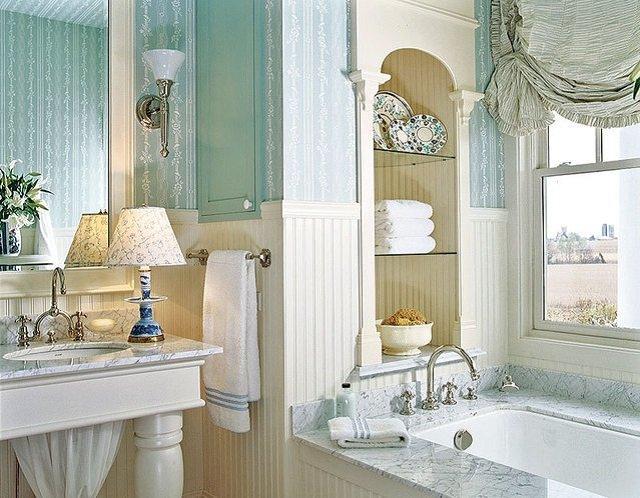 классика в интерьере ванной комнаты