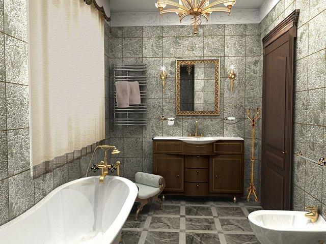 красивый интерьер небольшой ванной
