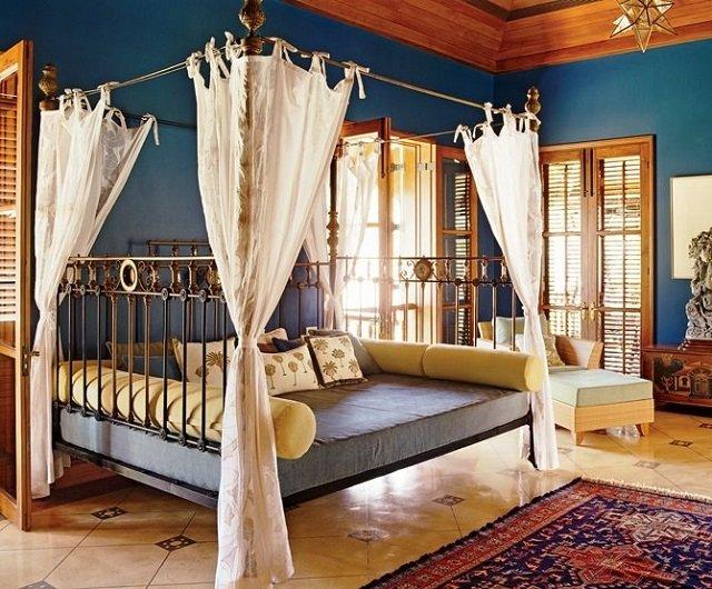 красивый восточный стиль спальни