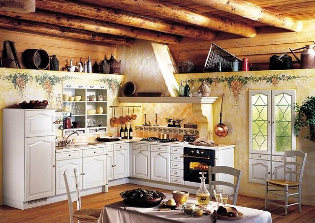 кухни в деревенском доме