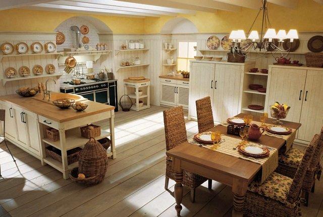 люстры - интерьер кухни