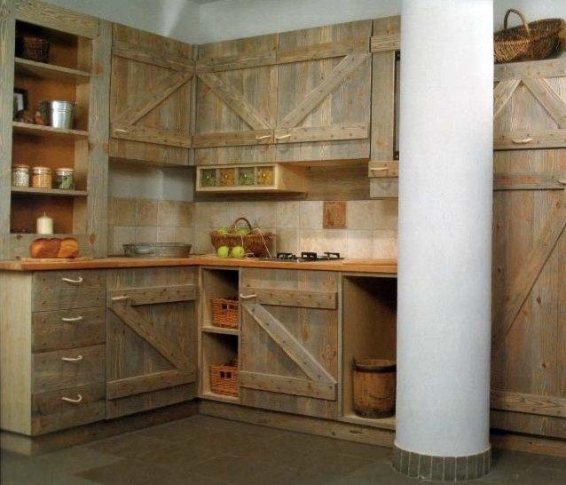 лучший интерьер кухни в деревенском доме