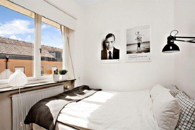 маленькая спальня с хорошим вкусом