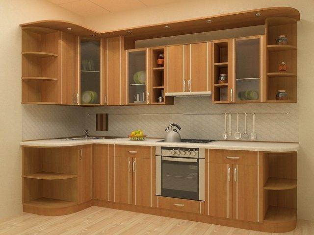 маленькая кухня углом дизайн